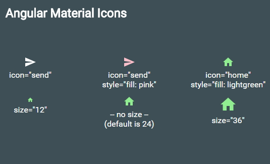 Angular Material icons