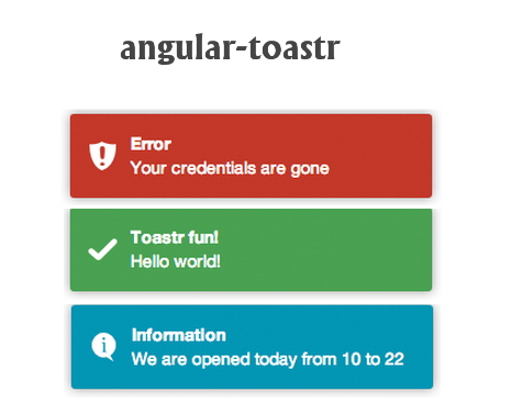 angular-toastr | An Angularjs Directive to create sexy toast