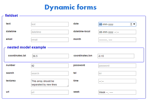 angular dynamic forms module to build forms from json schemas