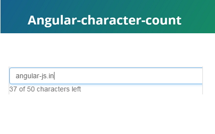 angular-character-count